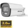 Hikvision-DS-2CE12DF0T-F-(3.6mm)-2MP-ColorVu-Fixed-Bullet-Camera-lagos-ikeja-computer-village-arena-alaba-oshodi-abuja-nigeria-distributor High-quality imaging with 2 MP, 1920 × 1080 resolution 24/7 color imaging with F1.0 aperture 3D DNR technology delivers clean and sharp images 2.8 mm, 3.6 mm, 6 mm fixed focal lens Up to 40 m white light distance for bright night imaging One port for four switchable signals (TVI/AHD/CVI/CVBS) Water and dust resistant (IP67)